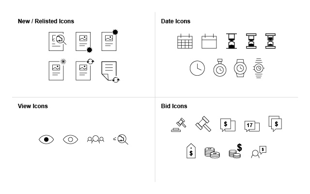 bidding page icons